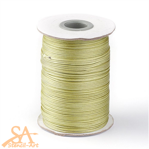 Waxed Polyester Cord 1mm 10m/Roll Olive Green