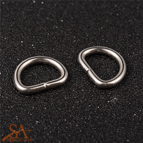 304 Stainless Steel D-Rings 15x19x3mm 10 Pcs