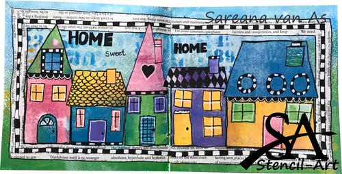 Art Journal Template - Home Sweet Home