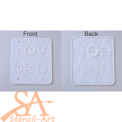 Silicone Mould - Assorted Open Back Mixed Shapes #1 173x151x7mm