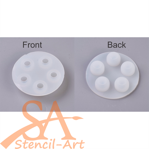 Silicone Resin Mould - 5 Spheres 66x15mm
