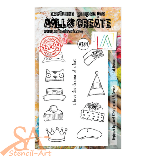 AALL & Create A6 Clear Stamp Set HAT DRAMA #284