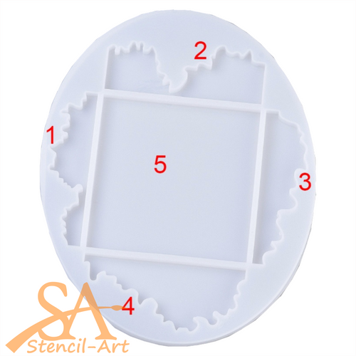 Silicone Resin Mould –  Square Coaster 109x109mm with layers
