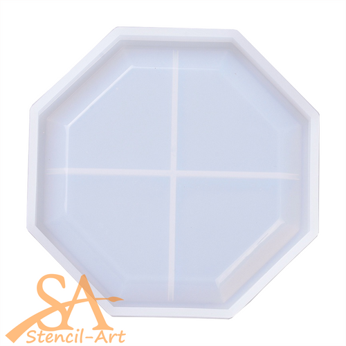 Silicone Resin Mould –  Coaster with Lip Hexagon 111x111x12mm