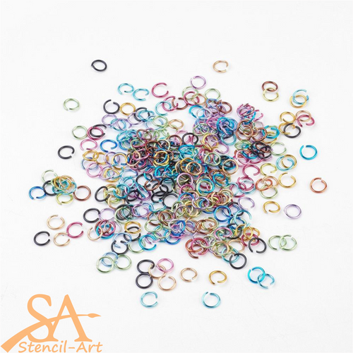 Unsoldered Aluminium Jump Rings 20g – Mixed Colours 8mm