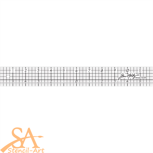 "Tim Holtz Acrylic Design Ruler 12"" #TH92481"