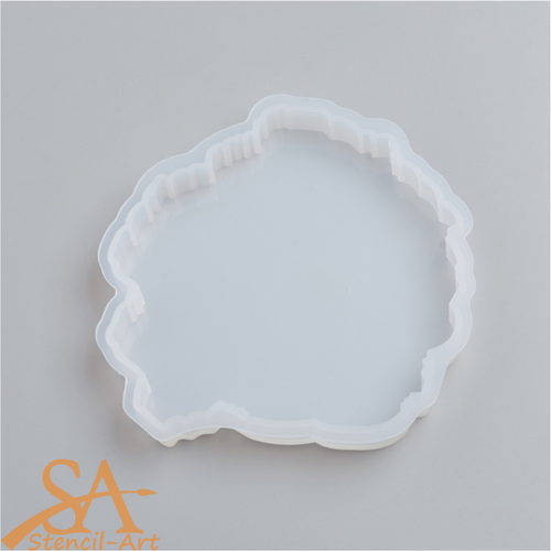 Silicone Resin Mould - Round Geode Agate 111x105x12mm