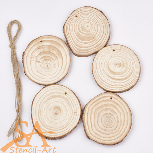 Wooden Tree Rings 90-98mm 5 pcs