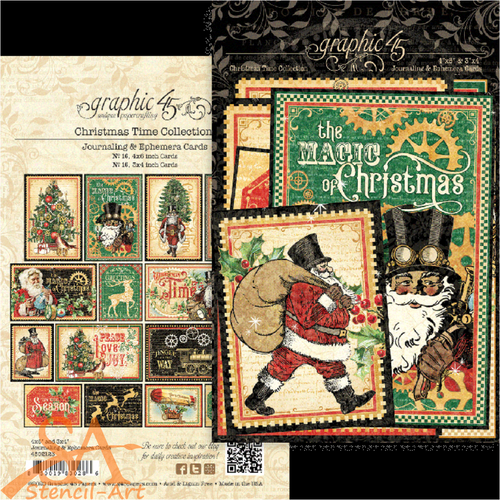 Graphic 45 Ephemera & Journaling Cards Christmas Time #4502123