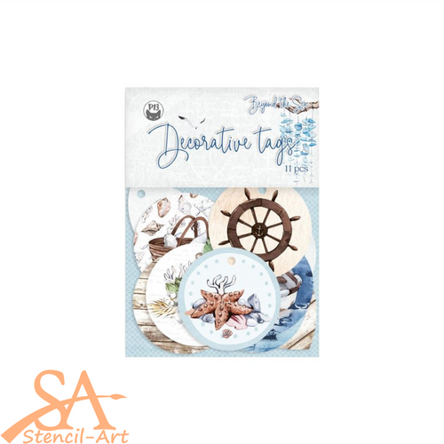 P13 Cardstock Tags 01 Beyond The Sea #P13SEA21