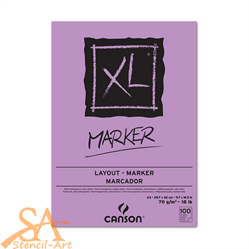 Canson® XL® Marker Paper Pad 70gsm A3 #200297237