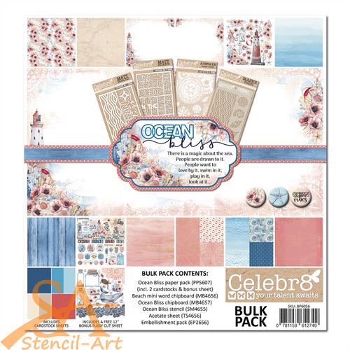 """Celebr8 Bulk Pack 12x12"""" OCEAN BLISS #BP6056"""