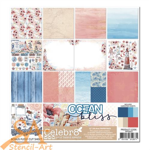 """Celebr8 Paper Pack 12x12"""" OCEAN BLISS #PP5607"""