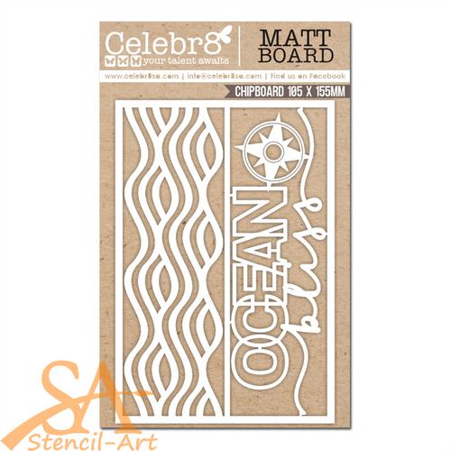 Celebr8 Chipboard/Mat Board OCEAN BLISS Title #MB4657