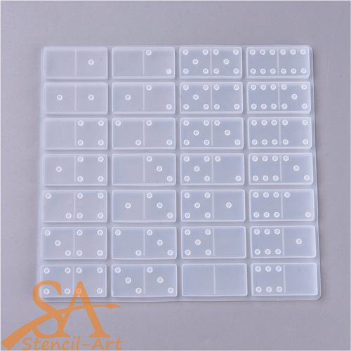 Silicone Resin Mould Dominoes 28-Piece Set 218x204x8mm