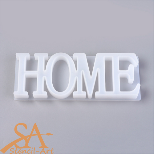 """Silicone Resin Mould Word """"HOME"""" 235x90x22mm"""