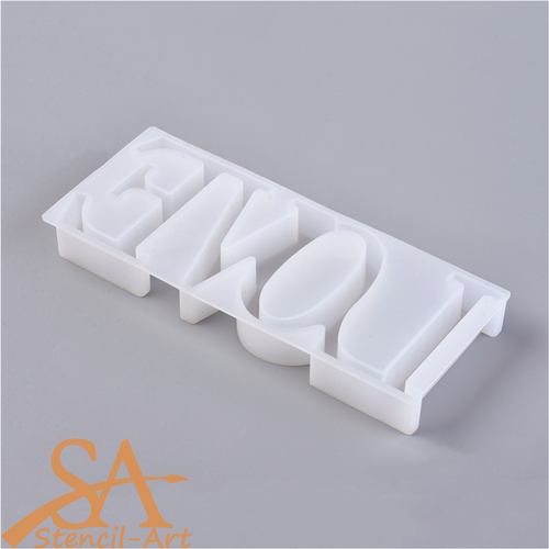 """Silicone Resin Mould Word """"LOVE"""" 205x85x22mm"""
