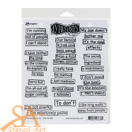 Dyan Reaveley's Dylusions Cling Stamp Set FULL BLOWN CIRCUS #DYR76780