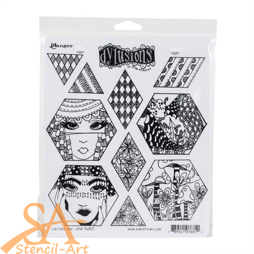 Dyan Reaveley's Dylusions Cling Stamp Set QUILTALICIOUS #DYR76810