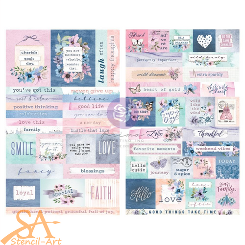 Prima Marketing Ephemera Stickers WATERCOLOR FLORAL #651541