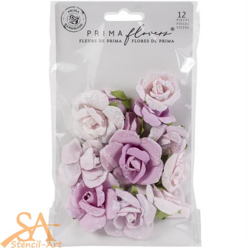 "Prima Marketing Flowers WATERCOLOR FLORAL ""Grey Pigment"" #653149"