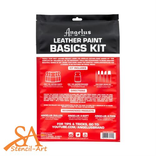 Angelus Acrylic Leather Paint Basic Set 12 pc