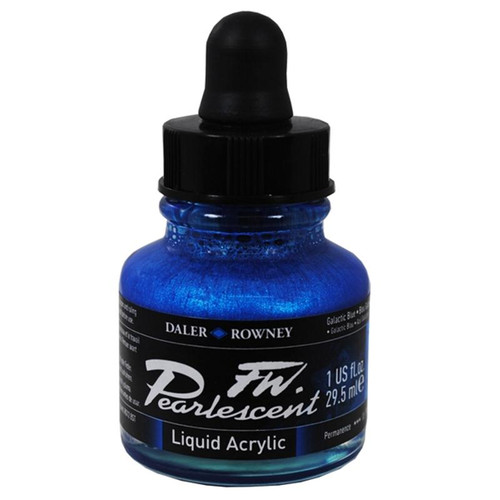 FW Pearlescent Ink 29.5ml - Galactic Blue #112
