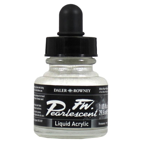 FW Pearlescent Ink 29.5ml - White Pearl #125