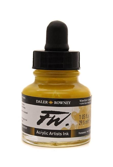 FW Acrylic Artists' Ink 29.5ml - Yellow Ochre #663