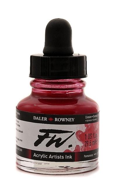 FW Acrylic Artists' Ink 29.5ml - Crimson #513