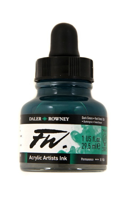 FW Acrylic Artists' Ink 29.5ml - Dark Green #326