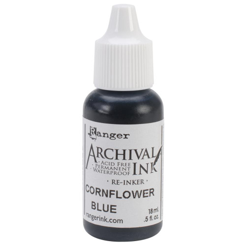 Archival Re-Inker 18ml – Cornflower Blue