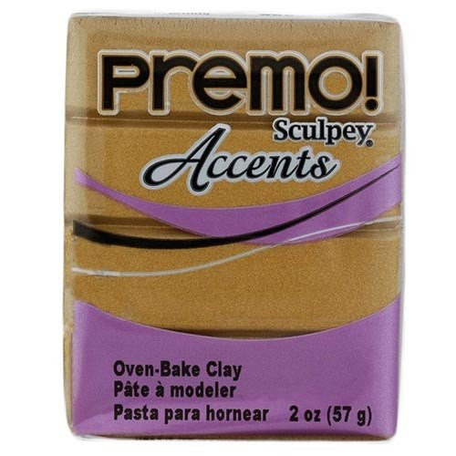 Premo! Sculpey Accents Polymer Clay - Antique Gold #5517