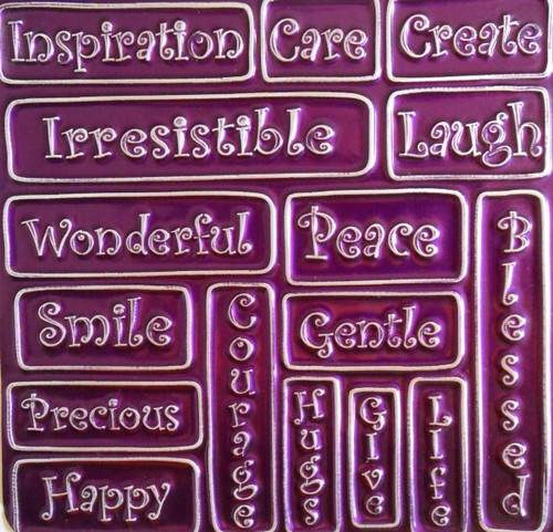 Creaticca Texture Plate 125x125mm – English Text 1