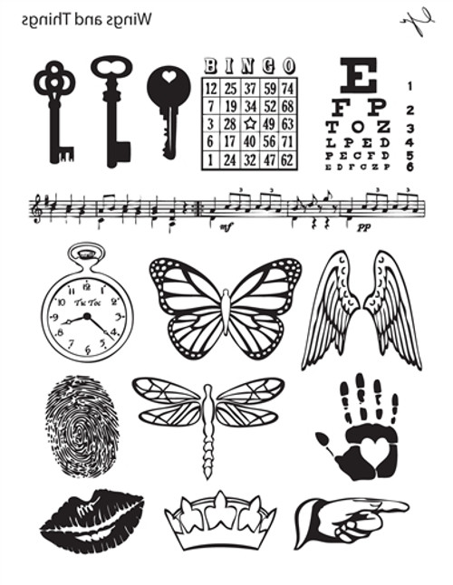 Lisa Pavelka Texture Stamp - Wings & Things