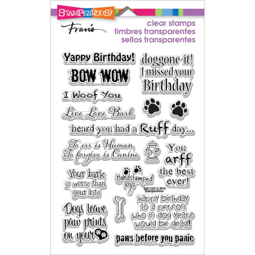 Stampendous Clear Stamp Set – Dog Sayings SSC1223
