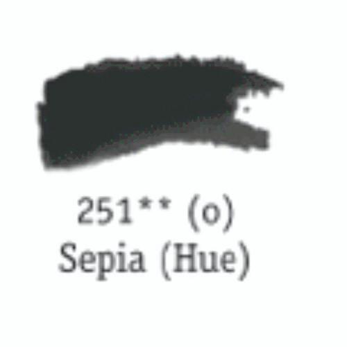 Aquafine Watercolour 8ml tube – Sepia #251