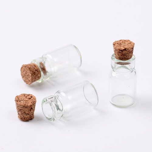 Mini Corked Glass Vials 20/pkg