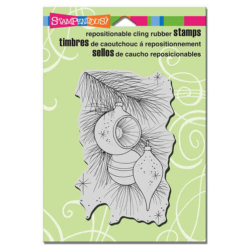 Stampendous Cling Rubber Stamp Pine Ornaments CRP306