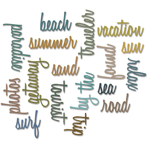 Sizzix Thinlits Dies 18/Pkg – Vacation Words Script #661288