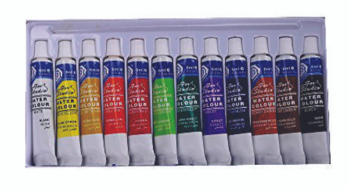 Basics Watercolour 12ml Set of 12 tubes