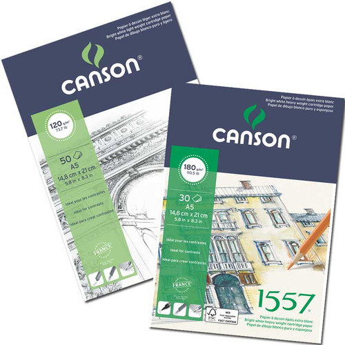Canson® 1557® Pad 120gsm A4 #204127408
