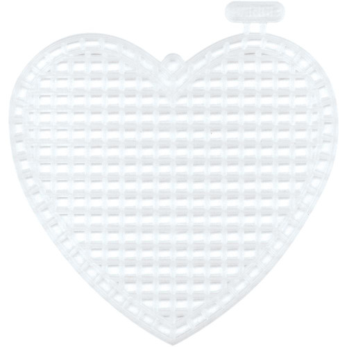 Clear Plastic Canvas Shapes 10/Pkg – 76mm Hearts