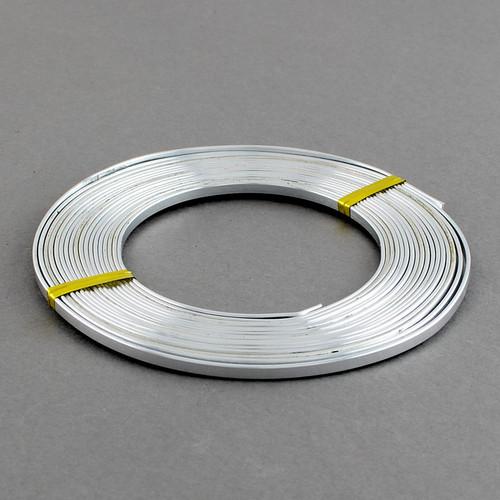 Aluminium Wire Flat 3x1mm x 2m Silver