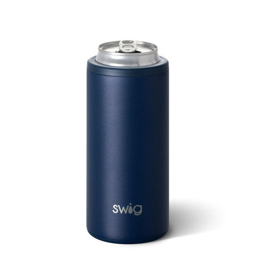 Swig Navy Slim Can Cooler