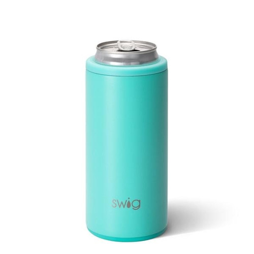 Swig Matte Aqua Slim Can Cooler