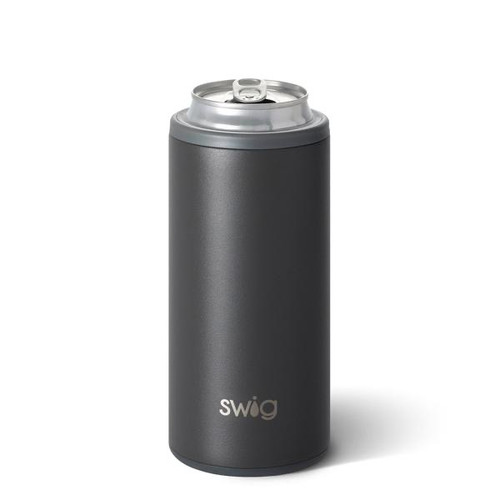 Swig Matte Grey Slim Can Cooler