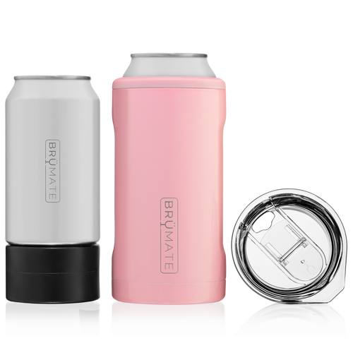 The hopsulator trio fits all your favorite 16oz craft cans, comes with an adapter for 12oz cans, and with one quick switch turns into a 16oz pint glass.