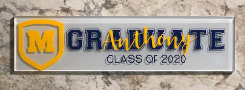 High school graduation subway tile from Moeller High School