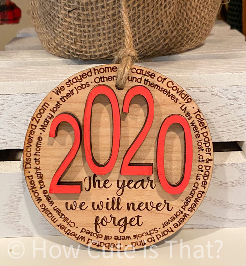 Remember this year with this keepsake ornament.